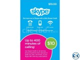 Skype 10 PrePaid Card