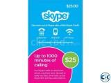 Skype 25 PrePaid Card