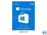 Microsoft Store 15 Gift Card