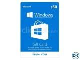 Microsoft Store 50 Gift Card