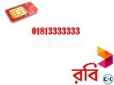 Robi VVIP Number 01813333333