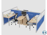 Office cubicles furniture for 4 person Model- Cubic-S-0005