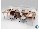 Office workstation cubicles for 4 person