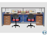 Office workstation furniture for 4 person space utilization