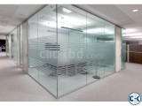 Office glass partition decoration