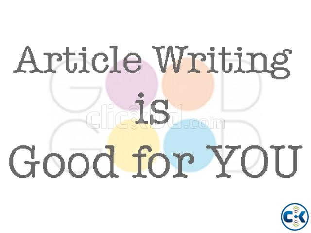 Article writer needed