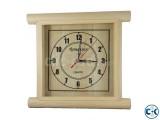 Romansun Wood color Square Wall Clock UNH93546