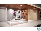 Fashion house showroom interior decoration in Bangladesh