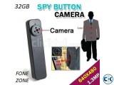 32GB SPY BUTTON 720P