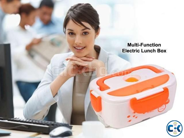 Multi-Function Electric heating Lunch Box with plug | ClickBD large image 0