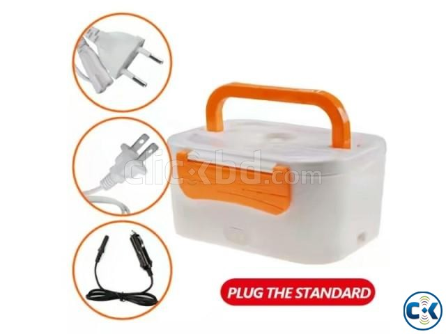 Multi-Function Electric heating Lunch Box with plug | ClickBD large image 1