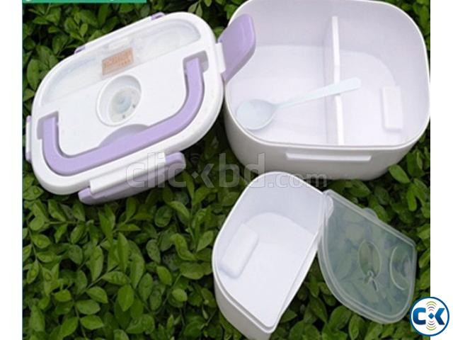 Multi-Function Electric heating Lunch Box with plug | ClickBD large image 4