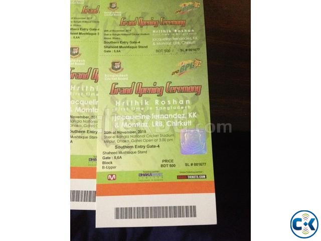 BPL-2015 Opening Ceremony 4 Tickets  | ClickBD large image 0