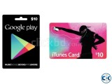 Google play gift card Apple itunes gift card skype cards