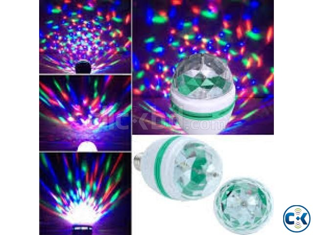 Multicolor Rotating LED Bulb | ClickBD large image 0