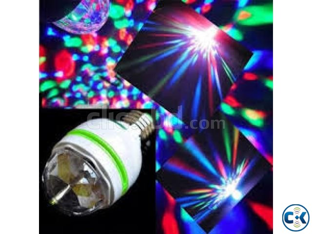 Multicolor Rotating LED Bulb | ClickBD large image 1