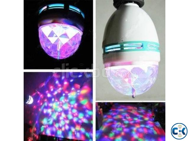 Multicolor Rotating LED Bulb | ClickBD large image 2