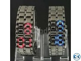 Samurai metal LED faceless bracelet watch..