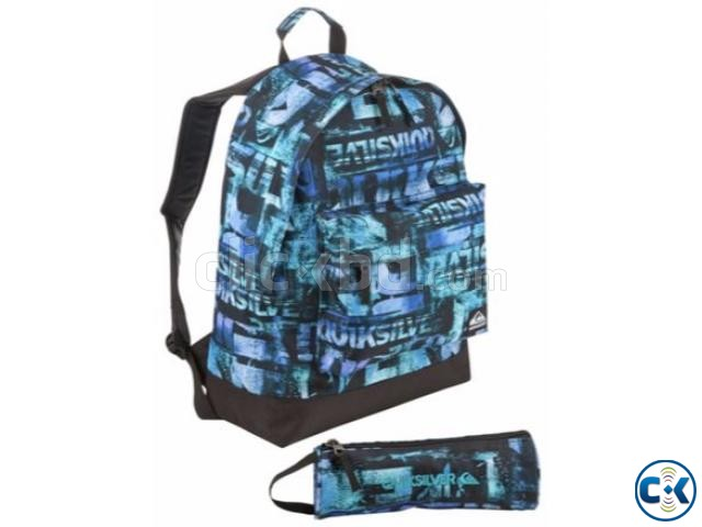 Quicksilver Backpack and Pencil Case Set - Blue | ClickBD large image 0