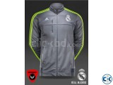 Real Madrid Authentic Grey Jacket 15 16
