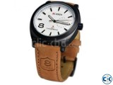 Curren Chronometer Quartz Leather Watch