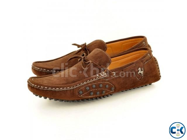 Mens Faux Suede Casual Loafers Shoes | ClickBD large image 0