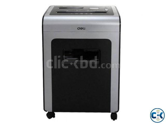 Deli 9917 Powerful LCD Dynamic Cross Cut 31L Paper Shredder | ClickBD large image 0