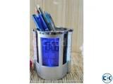 Digital Clock Pen Holder.