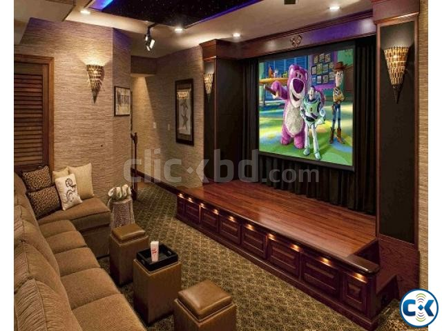 Home Theater Interior Decoration ClickBD Large Image 0
