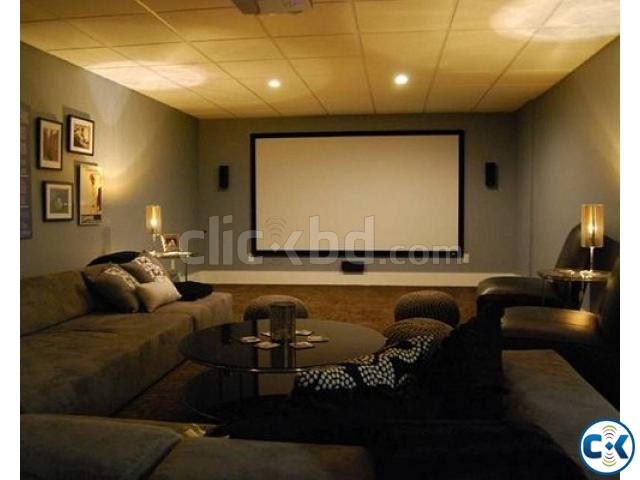 Home Theater Interior Decoration ClickBD Large Image 2