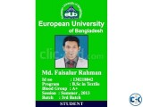 Plastic ID Card Print With less Print