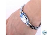 Iron Man Mask Silver Bracelet
