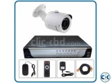 1 Pcs CCTV camera with DVR included Package