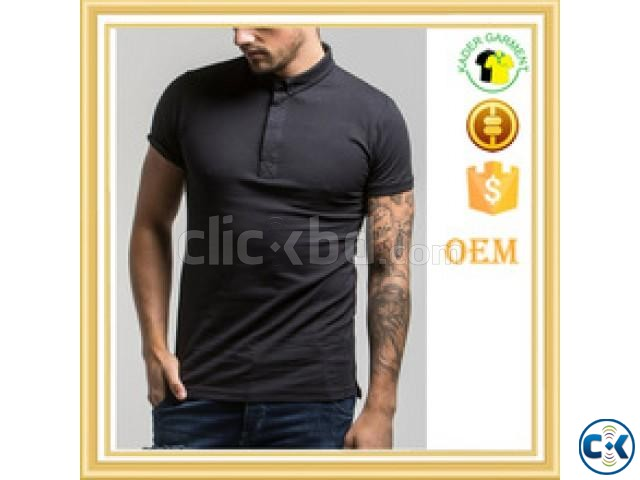 2a7063364 custom embroider blank black polo t shirt | ClickBD large image 0