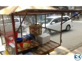 3 wheeler and fully steel bodied food cart