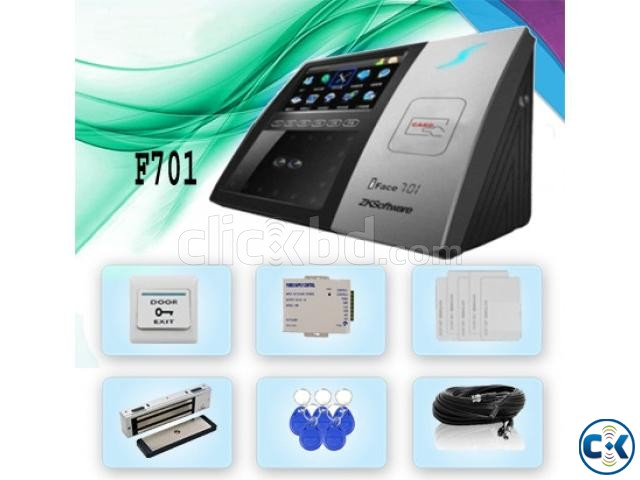 Face Detection RF-ID Card Time Attendance Machine With Gate