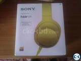 Sony MDR 100 AAP Hi-Res Headphone Yellow Lime