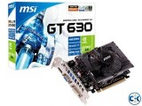 MSI GEFORCE GT 630 2GB DDR3 PCI-E 2.0