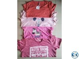 Ladies hot summer exclusive export quality tshirts