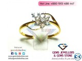 Diamond Ring with 18k yellow gold