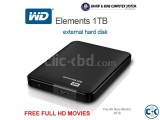 WD Elements portable hard drive with free HD movies