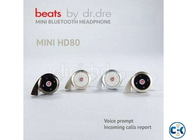 Monster Beats Hd-80 Mini Stereo Bluetooth Headset  | ClickBD large image 0