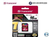 Transcend Memory Card SHXC SDHC Class 10 UHS-I 600x Ultimat