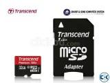 Transcend microSDHC Class10 U1 with adapter