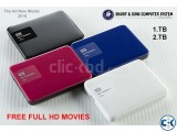 WD My Pasport Ultra portable hard drive with free HD movies