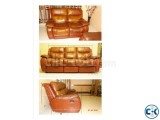 Sofa Leather Convertible Monti Carlo Italy
