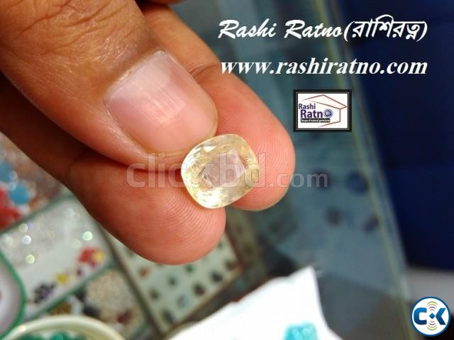 Yellow Sapphire Stone  | ClickBD large image 1