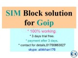 sim block solution for goip only