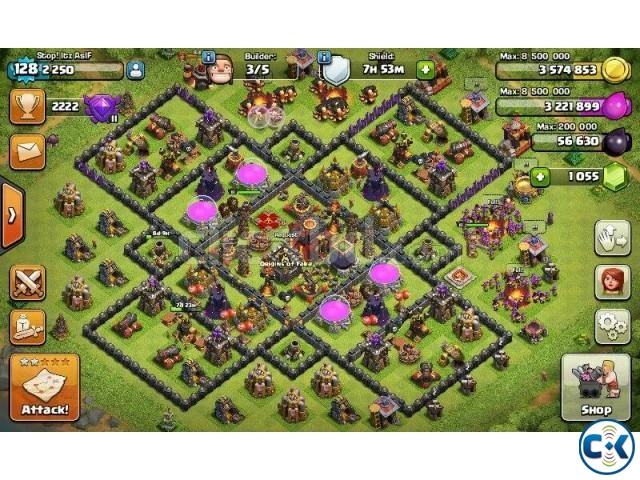 Clash of Clans TH 10 Lvl 128 for sale | ClickBD large image 0