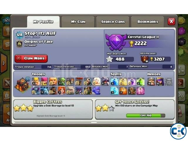 Clash of Clans TH 10 Lvl 128 for sale | ClickBD large image 1